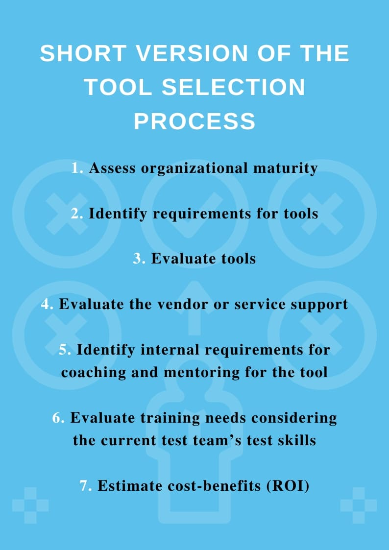 Principles for Test tool selection