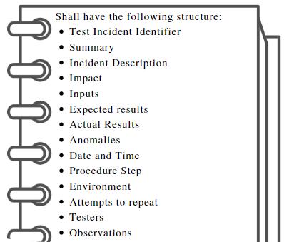 test incident report documentation